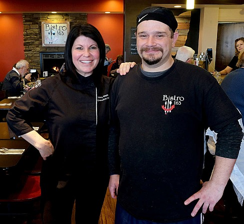 Chief Stacy At Bistro 163 with cook